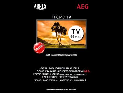 Arrex e AEG ti regalano una smart TV